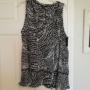 New with tags black and white blouse
